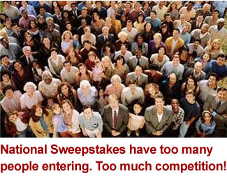 enter local sweepstakes with less competition