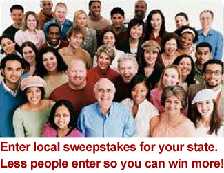 win more by entering local sweepstakes for your state