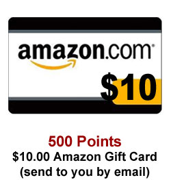 Get a $10 Amazon Gift Card for 500 Sweeties Rewards points