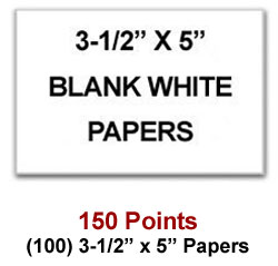 3-1/2 x 5 papers for 150 Sweeties Rewards points