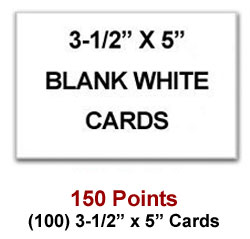 3-1/2 x 5 cards for 150 Sweeties Rewards points
