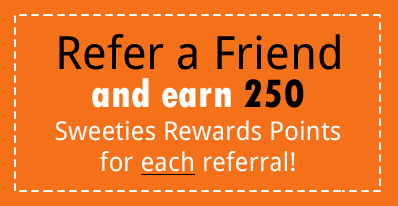 Refer a Friend to Sweeties Secret Sweeps, Earn Points and Get Free Stuff