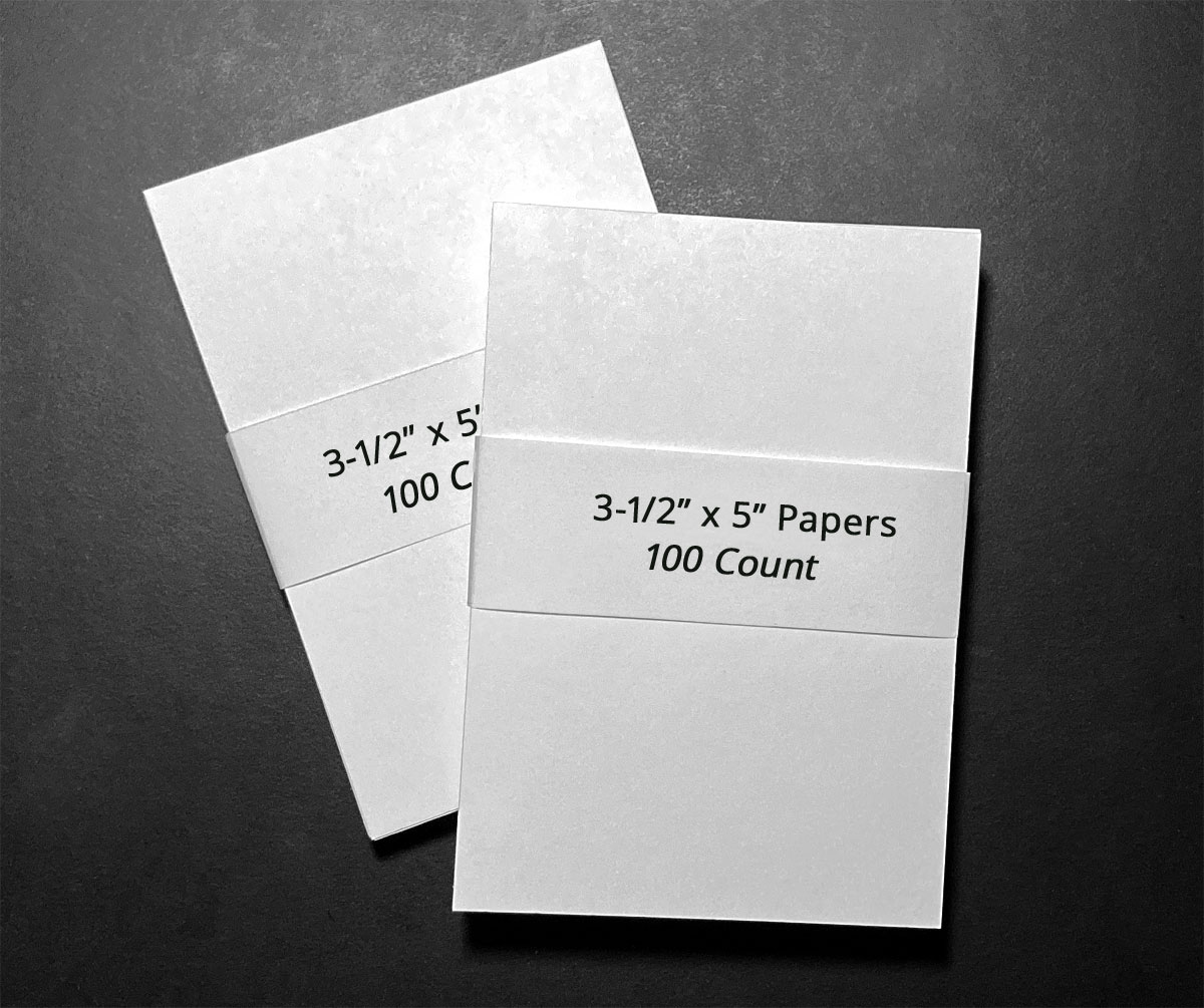 "3-1/2"" x 5"" papers to use for entering sweepstakes"